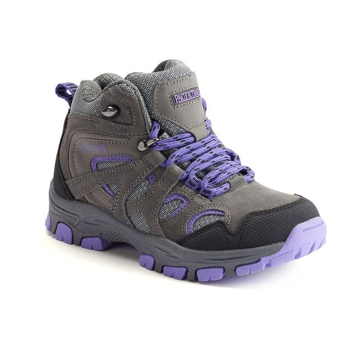 Pacific Trail Diller Light Girls' Hiking Boots, Size: 5.5, Med Grey
