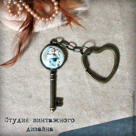 """Купить Брелок """"Для дочки"""" - бронзовый цвет, винтаж, брелок, брелок для ключей, для дочки"""