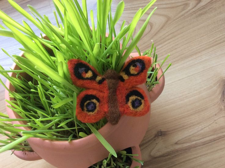 Felted butterfly, Inachis io