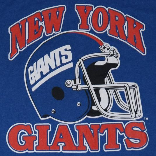 Vintage 1980s New York Giants Football t-shirt. Shirt looks like it has never been worn.