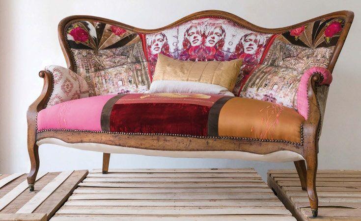 Tina Neumann ahora se embarca en un nuevo proyecto: la intervención de muebles antiguos con un trabajo textil y de acabado en sus maderas que los convierte en piezas de colección.