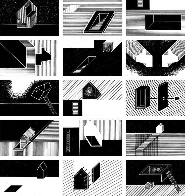 Hedvig Skjerdingstad, U0027The Archive U2013 A Study Of Recollectionu0027, Black And  White Graphic Novel Style Architectural Sequence.