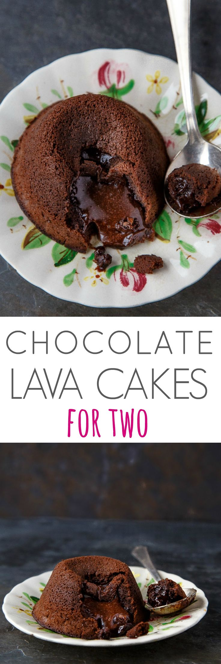 VIDEO: exactly how to make two molten chocolate lava cakes. The only chocolate dessert for two that you need! Romantic date night dessert @DessertForTwo