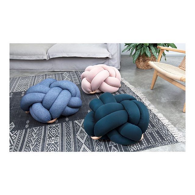 floor knot cushions by knots studio