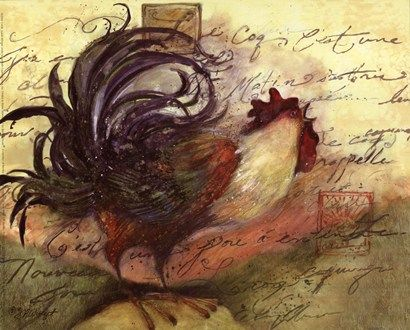 Le Rooster III Art Print by Susan Winget