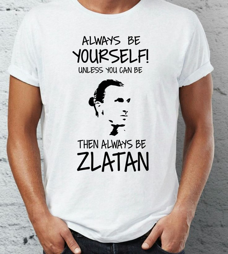 Zlatan Ibrahimovic T-Shirt Mens Manchester United Shirt Always Be Zlatan Funny   #Gildan