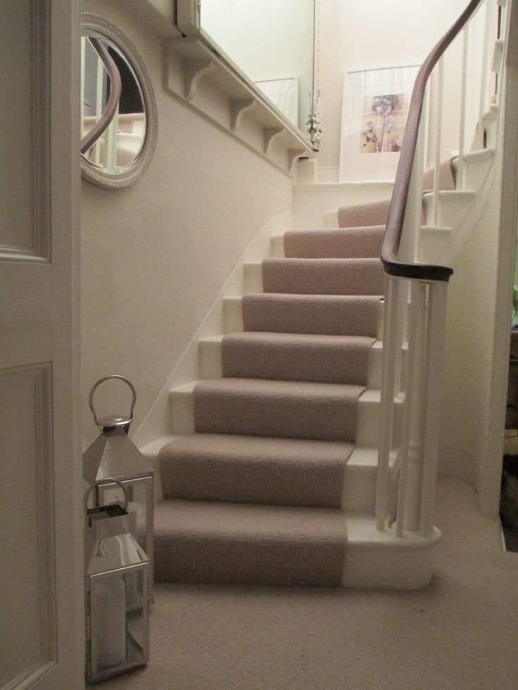 Our Georgian Staircase Painted With Farrow U0026 Ball Slipper Satin And  Wimborne White