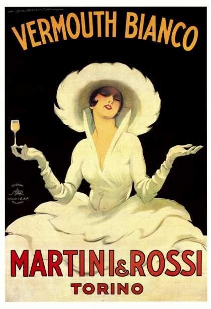Arte al muro. Manifesti pubblicitari dal passato. Pubblicità del Vermouth