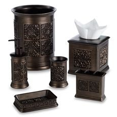 Imperial Tuscan Gold Boutique Tissue Holder - Bed Bath & Beyond