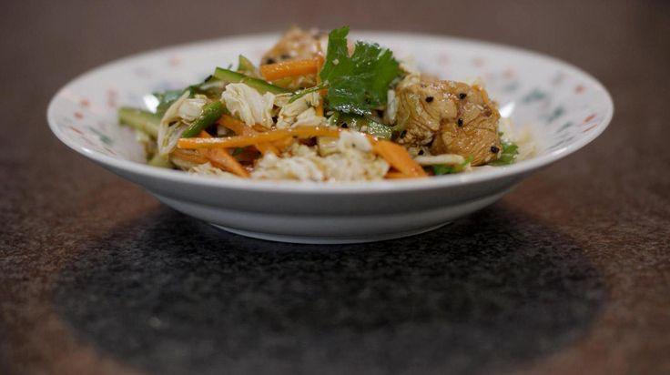 Salade met gemarineerde kip en sesam | Dagelijkse kost