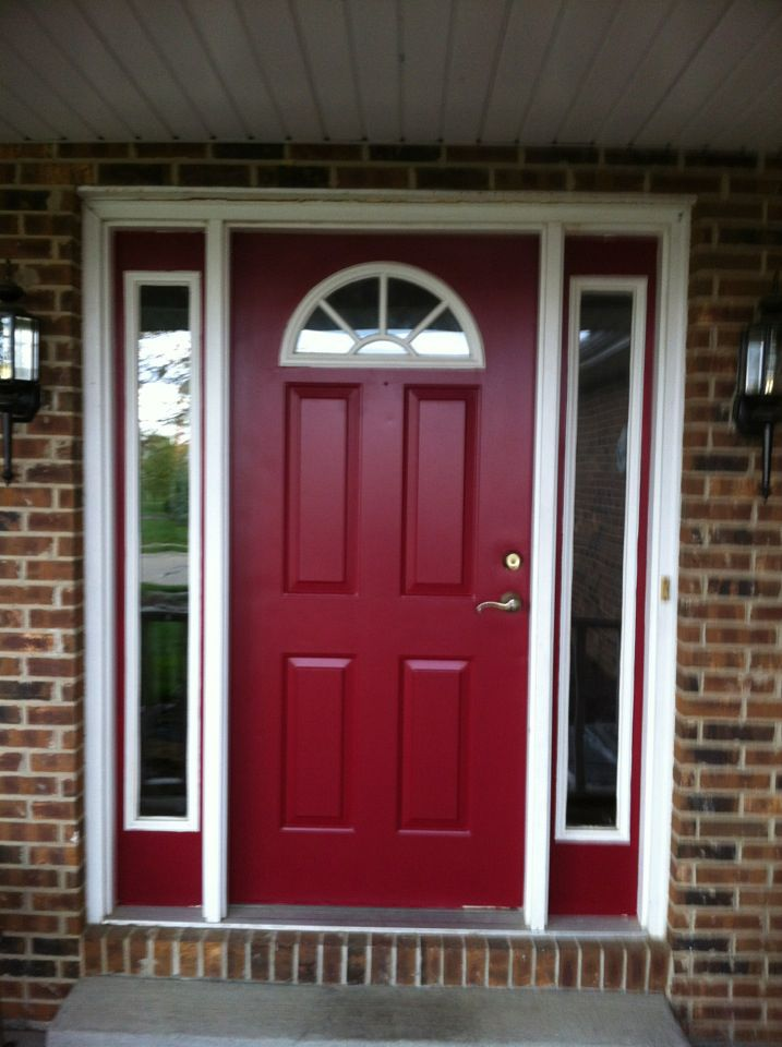 Behr's Spiced Wine paint for the front door.  I LOVE this color!