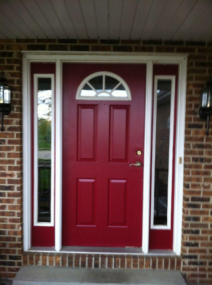Behr 39 s spiced wine paint for the front door i love this - Exterior door paint colors ...