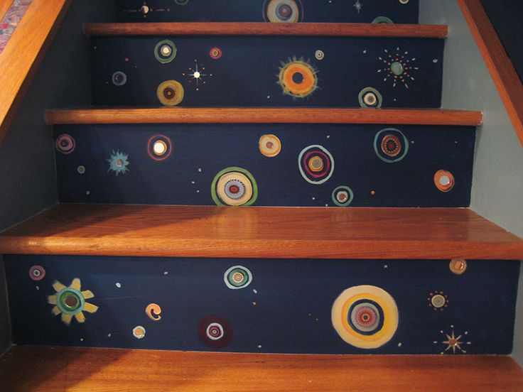 20 Attractive Painted Stairs Ideas: Best 25+ Painted Stair Risers Ideas On Pinterest