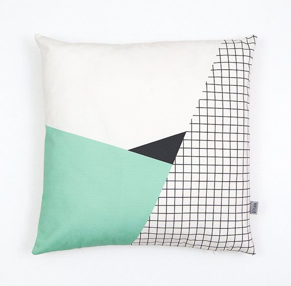 Cushion cover. 100% Organic cotton twill  19.5x19.5  Designed by Depeapa and inspired by Memphis Milano, a movement of architecture and industrial design