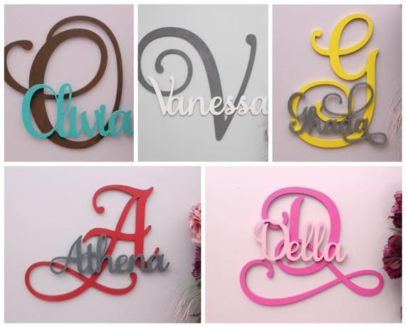 Large Wooden Letters Custom Wood Name Sign Personalized Letters For Nursery Decor Family Name Wood Letters Gallery Wall Decor Large Wooden Letters Wooden Letters Wooden Letter Crafts