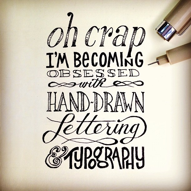 Hand Lettering by [ts]Christer @mniewald this made me think of your instagram the other day