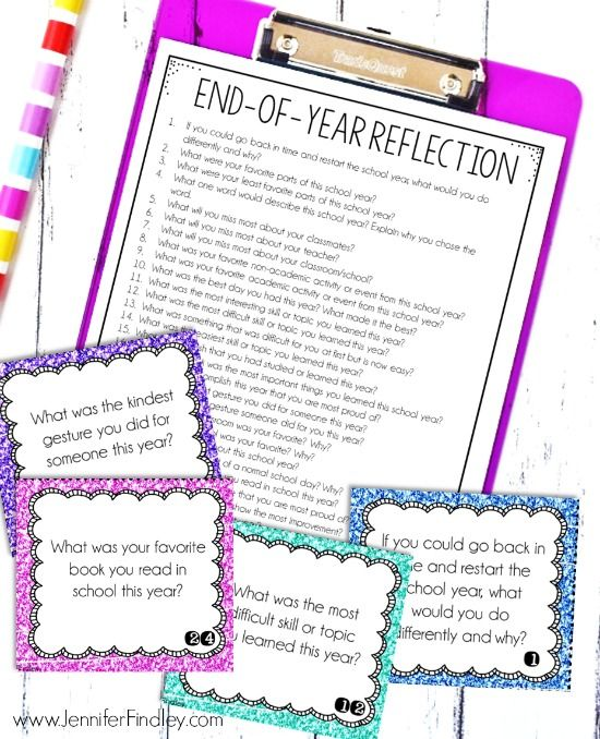 End of Year Reflection Activity (Free!)