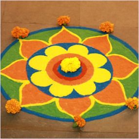#DIY #Diwali #rangoliDesigns of 2015 for kids: http://thechampatree.in/2015/11/10/diwali-rangoli-designs/