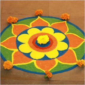 #DIY #Diwali #rangoliDesigns of 2015 for kids: http://thechampatree.in/2015/11/10/diwali-rangoli-designs/