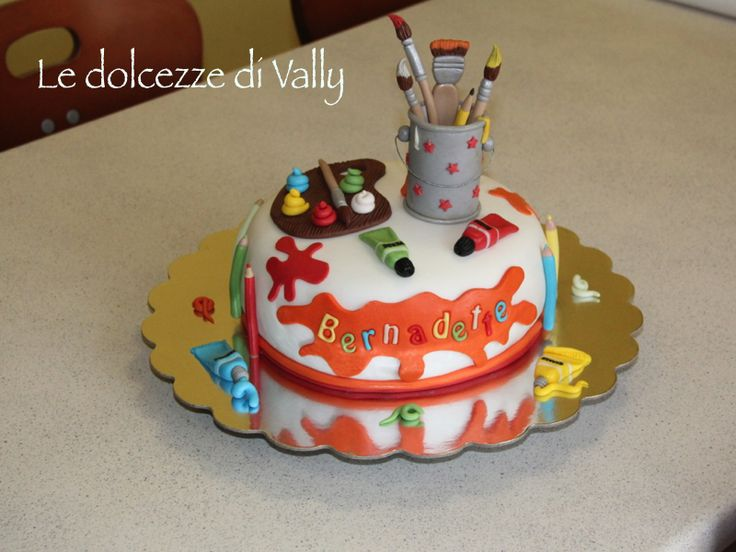 Artist Palette Cake Template : 1000+ images about c Tort pictori ( Painters Cakes) on ...