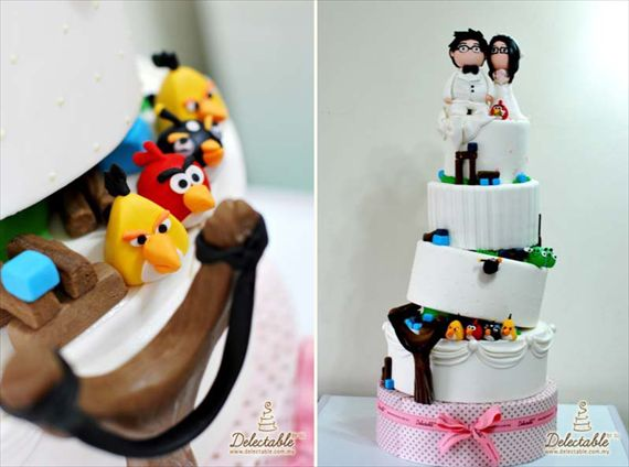 I won't do angry birds as my wedding theme, but isn't that such a great idea??