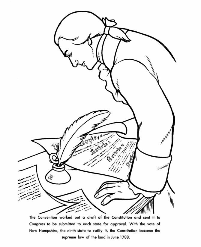 Constitution Day Coloring Page Constitution Day Coloring Pages