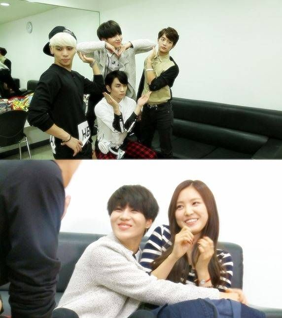 SHINee punishes Taemin for acting out to Na-Eun on 'We Got Married' | allkpop.com