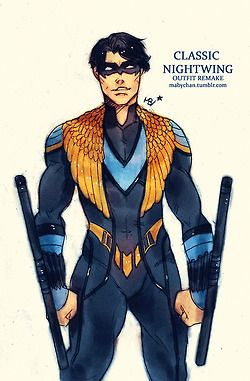 batman My art dc outfit robin dick grayson Remake dc comics jason todd Nightwing Damian Wayne tim drake Red Hood Red Robin maby-chan mabychan