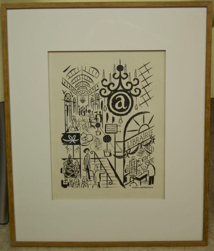 Dupuy & Berbérian - Illustration Galerie Vivienne - Paris - A vendre 1000 € par Philippe Dupuy, Charles Berberian - Œuvre originale