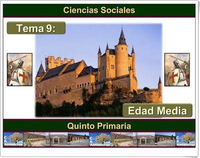 """Unidad 8 de Ciencias Sociales de 5º de Primaria: """"La Edad Media"""""""