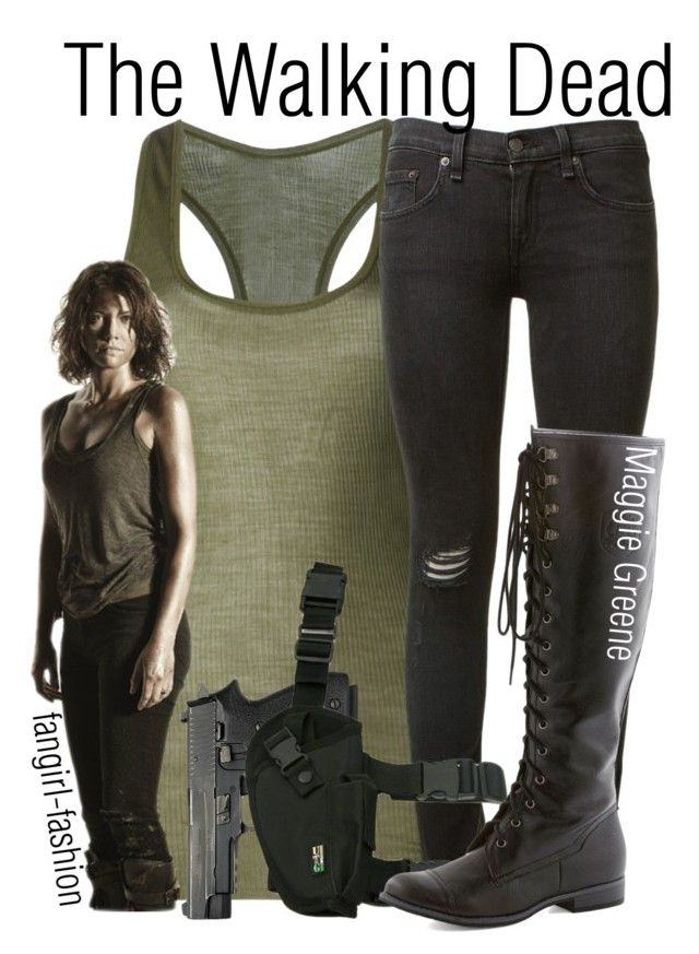 """""""Maggie Greene- AMC's The Walking Dead"""" by avey-kates ❤ liked on Polyvore featuring Jean Colonna, rag & bone, Maggie, AMC, thewalkingdead and Greene"""