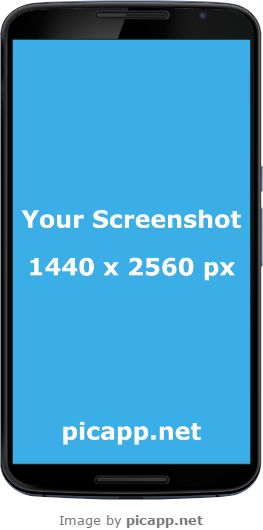 With Picapp.net you can put your screenshot app in Google Nexus 6 frame. Your work it's done in a few minutes. And the good part: it's free! #GoogleNexus6 #nobackground #GoogleNexusBlack #mock