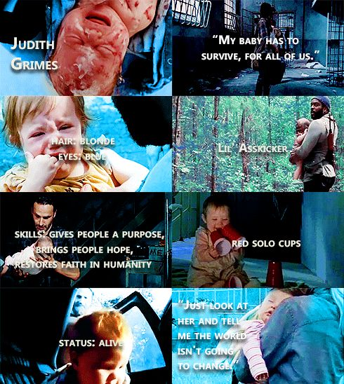 Judith Grimes Facts #TWD // And because I cants help but point out... blue eyes are a recessive, not dominant trait. And we alllll know who has the blue eyes and who didn't. Just sayin'.