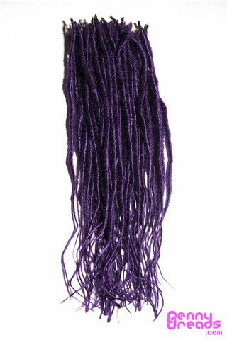"Purple 24"" U-Tip Synthetic Dreadlocks (10 pieces) - 100% Kanekalon. – Penny Dreads & Wigs"