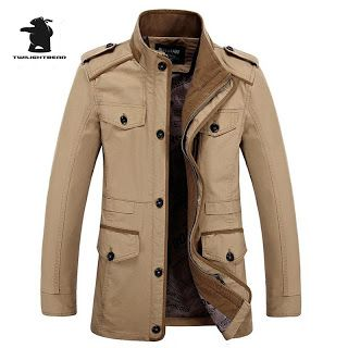 New mens Casual Jackets Autumn And Winter Fashion Washed Cotton Stand Collar Long Casual Jacket Coat For Men L6XL Db16F12 (32557822149)  SEE MORE  #SuperDeals