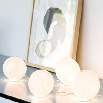 Lampe a poser tamago blanc h14cm celine wright normal