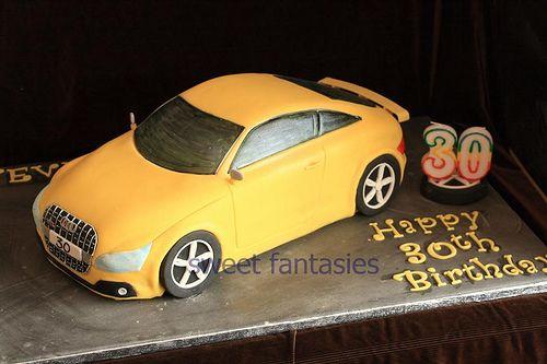 https://flic.kr/p/7Jpvyu | 3D Audi TTs | Audi TTs Sponge Birthday Cake