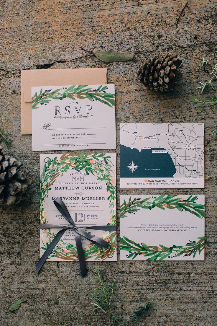 forest wedding stationery - photo by Martina Micko http://ruffledblog.com/a-california-wedding-inspired-by-the-forest
