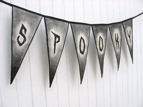 Indoor Outdoor hand painted canvas pennant banner