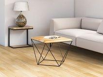 TULIP WOOD minimalistyczny stolik kawowy