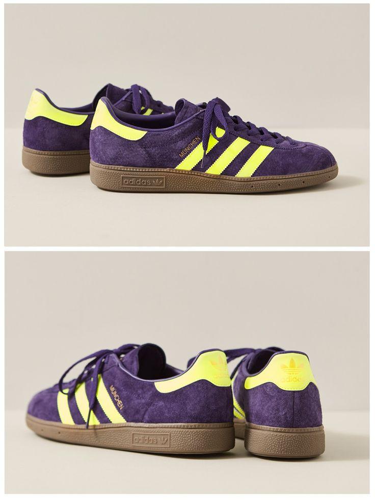 adidas Originals München: Purple/Yellow