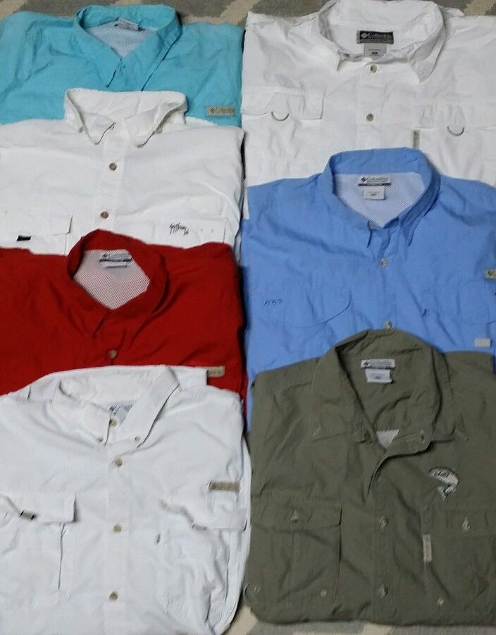 Mens Columbia PFG shirt LOT OF 7 Extra Large Guy Harvey Fishing Vented XL XCO | Clothing, Shoes & Accessories, Men's Clothing, Casual Shirts | eBay!