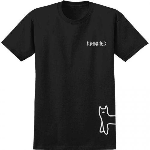 Krooked Skateboards  Krooked Kat Walk T-Shirt  Black/White