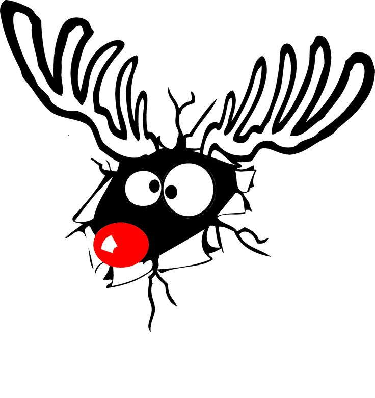 Reindeer, Rudolph, Red Nose, Christmas, Deer, Comic