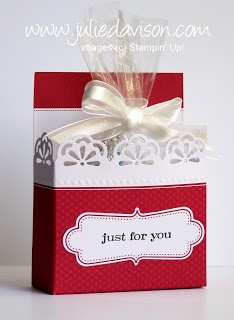 Treat Box Tutorial  Julie's Stamping Spot -- Stampin' Up! Project Ideas Posted Daily: Everyday Elegance Simply Sent