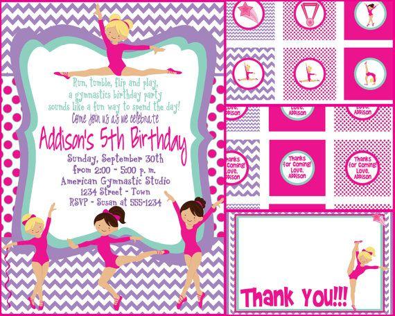 11 best Gymnastics party images on Pinterest Gymnastics birthday - best of invitation wording for gymnastics party