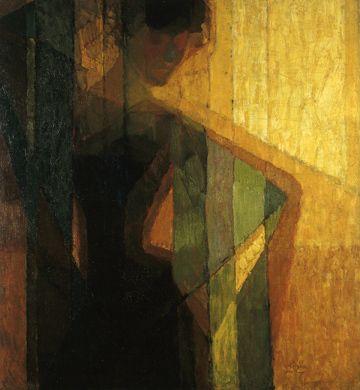 Peinture à l'huile et pigments sur toile de Frantisek Kupka, peintre (1871 - 1957). - JPEG - 84.3 ko