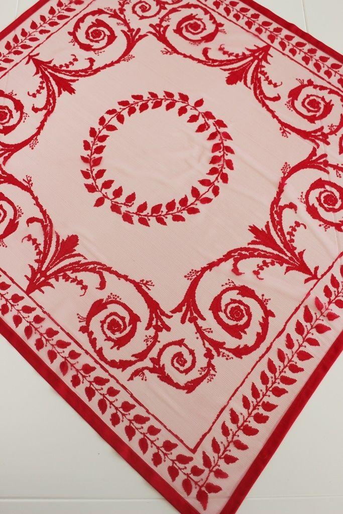 Kırmızı Mini Masa Örtüsü   Masa Örtüsü   Moda Fabrik