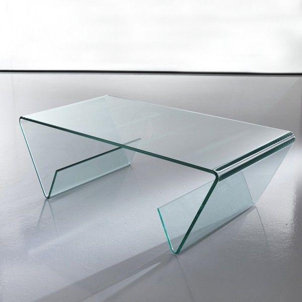 Tavolino in vetro curvato Jones