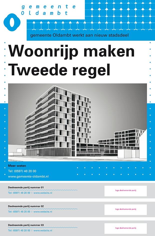 Gemeente Oldambt: basis opbouw bouwbord.